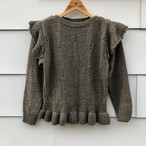 Grayish Brown Ruffle Sleeve Sweater