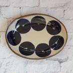 やちむん【エドメ陶房】オーバル皿