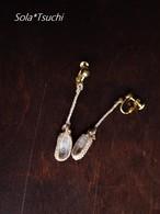 アーカンソー産ミニポイント水晶のマクラメ編みゆらりイヤリング