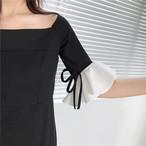 【新作10%off】vell sleeve feminine dress 2385