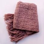草木染め 手編みのマフラー