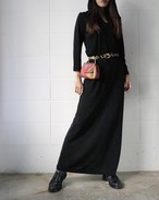 black long hooded dress