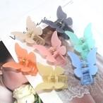 ヘアアクセサリー バンスクリップ ヘアクリップ ヘアレンジ 簡単 韓国 まとめ髪  シンプル 大人 レディース 女性 蝶々シンプルカラーバンスクリップ