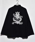 健康(ヘルシー) 健康ドラゴンチャイナシャツ  (WHITE embroidery)