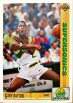 NBAカード 91-92UPPERDECK Gary Payton #153 SUPERSONICS