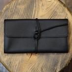 ル・ボナー 紐財布 ブラック