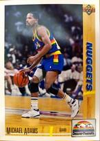 NBAカード 91-92UPPERDECK Michael Adams #43 NUGGETS