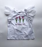 MONNALISA チューリップTシャツホワイト 3才~12才 モナリザ