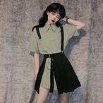 【set】[単品注文]カジュアル無地シャツ+スカートセットアップ21294839
