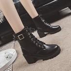 【shoes】レトロクラシック高品質ハイヒールブーツ15774187