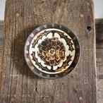 コンガリ舎 くぼともこ 彫り絵皿 直径13cm