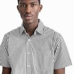 Short Sleeve Studio Shirt(Black Stripe)