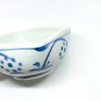 【砥部焼/梅山窯】3寸四方曲鉢(太陽)