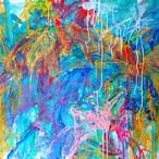 絵画 絵 ピクチャー 縁起画 モダン シェアハウス アートパネル アート art 14cm×14cm 一人暮らし 送料無料 インテリア 雑貨 壁掛け 置物 おしゃれ ロココロ 現代アート 抽象画 画家 : tamajapan 作品 : t-15