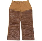 70's STREAMandFIELD Duck Canvas Painter Pants with Leather
