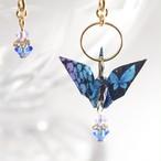紫陽花と蝶折り鶴ブルー