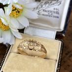 イギリス1909年製アンティークリングK18 指輪 ダイヤモンド