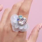 【リング.10】phantomFLOWER crystal