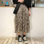 【送料無料】ワイルドで可愛い♪ヒョウ柄ロングスカート  軽やかフレア カジュアルコーデ