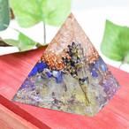 ピラミッド型Ⅱ ラピスラズリ オルゴナイト プリザーブドフラワーコラボ