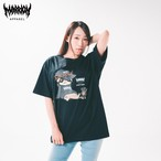 "LAZY MARRION "" TEE LAZY GOD×MARRION APPAREL ×BLACK"
