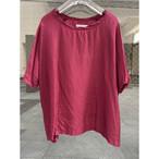 【hippiness】cupro wide Tshirt (wine)/【ヒッピネス】キュプラ ワイド Tシャツ(ワイン)
