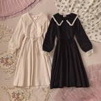 【meltie】lace collar one-piece