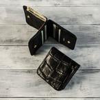 本革2つ折り財布 スクエア Wオープンタイプ  Leather Sqare Wallet W open type