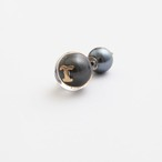 MAYU/PEARL RIVETS Black Pearl Initial,10mm Catch T
