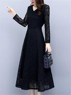 【dress】Popular design solid color date dress
