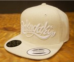 RAKUGAKI Melton Wool Main Logo SnapBack Cap Natural x White