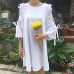 open shoulder summer dress 2256