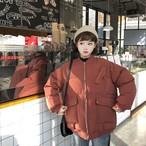 ノーカラー 中綿 ジャケット コート【17003】