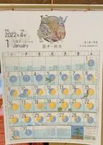 数量限定!月のカレンダー 2022