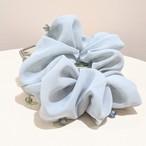"【再入荷】""light blue color"" Scrunchie"