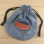 巾着袋(さをり織りのワンポイント入り)