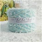 §koko§ Fairies ~花の妖精~ ブルー 1玉48g 伸縮糸引き揃え ヘアバンド等使い方を楽しんで下さい♪