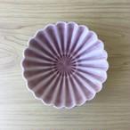 【有田焼】紫交趾 菊型反小鉢