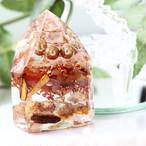 オリジナル! 水晶ポイント型 カーネリアン&パロサント オルゴナイト