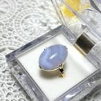 (昭和の懐かしいブルーレースアゲートの指輪)Japanese Traditional ring