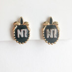 """NINA RICCI"" black earring[e-1279] ヴィンテージイヤリング"