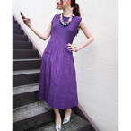 Purple pleats onepiece