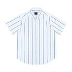 Short Sleeve Studio Shirt(Blue Stripe)