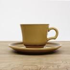 【SL-0031】磁器 コーヒーカップ アメ色×ブラウン