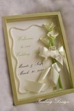 結婚祝 フラワーボックス(カラー) ウェディングギフト 記念日 メッセージ ウェディングボード  シンプル モダン サプライズギフト