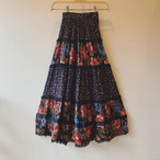 vintage flower design viscose skirt