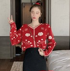 【トップス】カジュアル切り替えプリントセーター・カットソー25054491