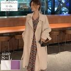 No.244 韓国アウター ジャケット きれいめアウター ロングコート 2color