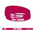 チャリティー・バンド STAY STRONG 2018 フリーサイズ PINK