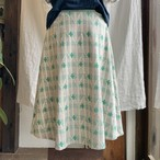 【フレアスカート】mori no kaze/グリーン/original textile